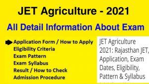 JET Agriculture 2021 Preparation Test Online Syllabus Wise [Free Mock]